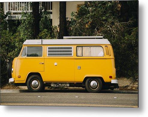Vw Metal Print featuring the photograph Orange Vw Bus by Kyle Morris