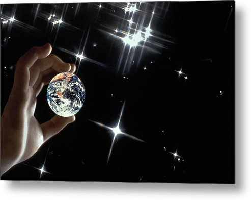 Stars Metal Print featuring the photograph Our Precious Planet by Carl Purcell