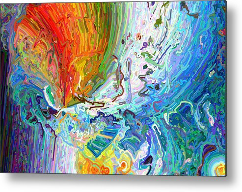 Modern Metal Print featuring the digital art Out Of The Mouth by Paul Gavin