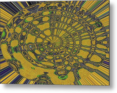 Oval Abstract Maple Leaf Metal Print featuring the digital art Oval Abstract Maple Leaf by Tom Janca