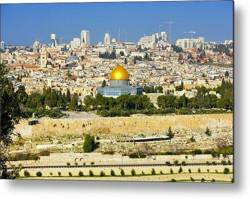 Jerusalem Metal Print featuring the photograph Over Jerusalem by Barbara Stellwagen