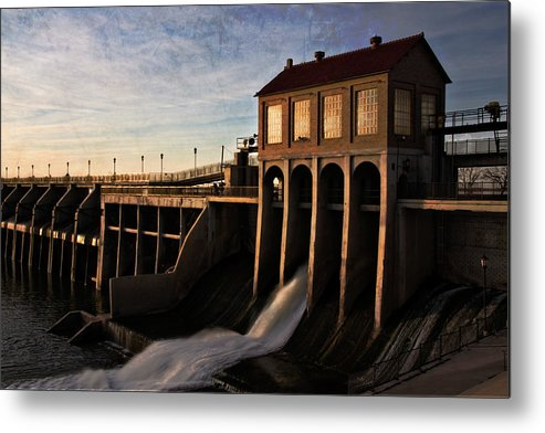 Oklahoma Metal Print featuring the photograph Overholser Dam by Lana Trussell