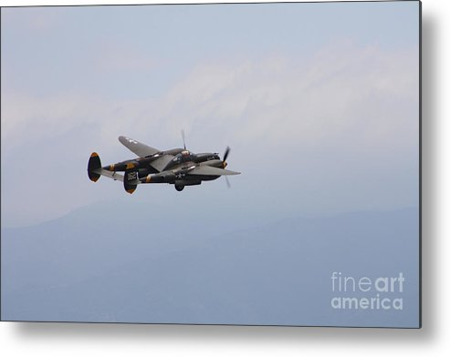 P-38 Lighting Metal Print featuring the photograph P-38 Lighting by Tommy Anderson