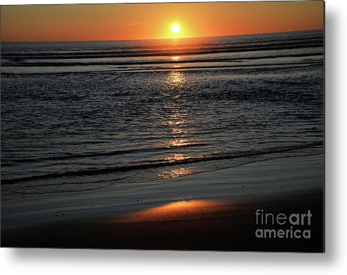 Denise Bruchman Metal Print featuring the photograph Pacific Sunset by Denise Bruchman