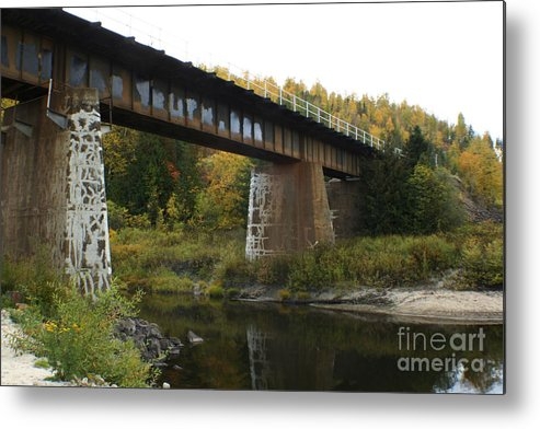 Bridge Metal Print featuring the photograph Pack River Bridge by Idaho Scenic Images Linda Lantzy