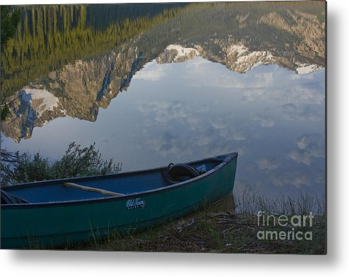 Canoe Metal Print featuring the photograph Paddle To The Mountains by Idaho Scenic Images Linda Lantzy