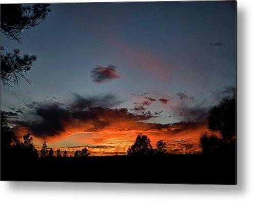 Sunset Metal Print featuring the photograph Pagosa Sunset 11-30-2014 by Jason Coward