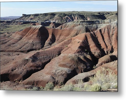 Painted Desert Arizona Landscape Metal Print featuring the photograph Painted Desert - 1 by Harold Piskiel