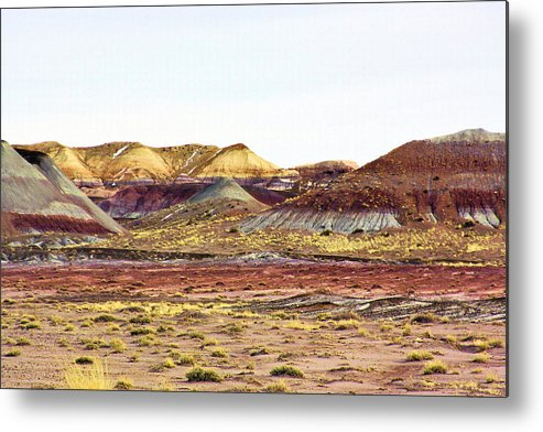 Photography Metal Print featuring the photograph Painted Desert Winter 0602 by Sharon Broucek