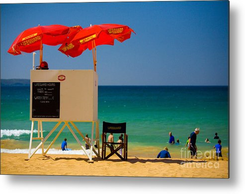 Palm Beach Sun Sea Sky Beach Umbrellas Metal Print featuring the photograph Palm Beach Dreaming by Sheila Smart Fine Art Photography