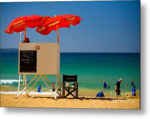 Palm Beach Sun Sea Sky Beach Umbrellas Metal Print featuring the photograph Palm Beach Dreaming by Sheila Smart Fine Art Photography