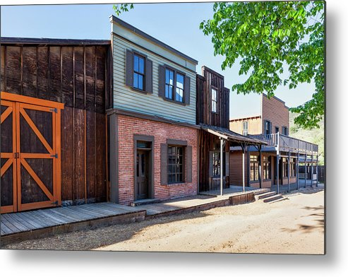 Ghost Town Metal Print featuring the photograph Parimount Ranch Bank by Gene Parks