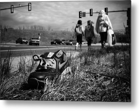 Shoe Metal Print featuring the photograph Passed by Kevin Brett