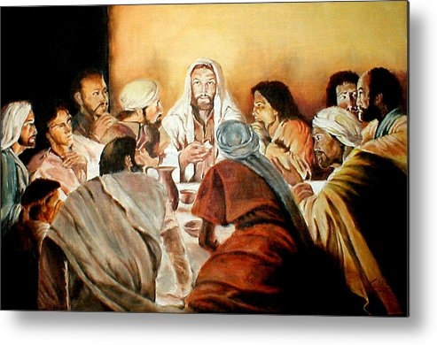 Christ Metal Print featuring the painting Passover by G Cuffia