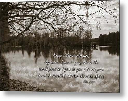 Landscape Metal Print featuring the photograph Peace I Leave With You by Carolyn Marshall