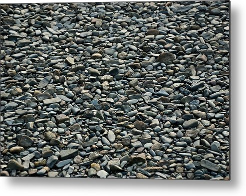 Pebbles Metal Print featuring the photograph Pebbles On The Beach by Gene Sizemore