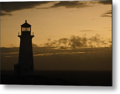 Lighthouse Metal Print featuring the photograph Peggy's Sunset by Richard Andrews