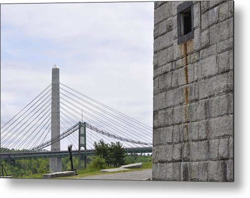 Fort Knox State Park Metal Print featuring the photograph Penobscot Narrows by Glenn Gordon