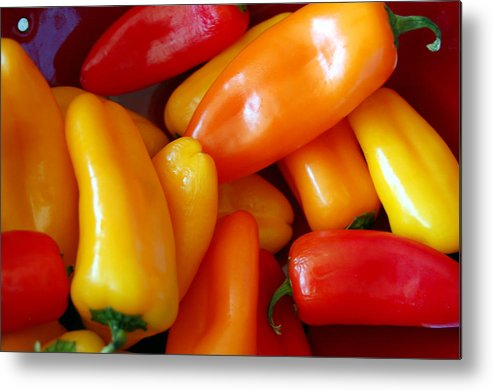 Peppers Metal Print featuring the photograph Pepper Medley by Heather S Huston