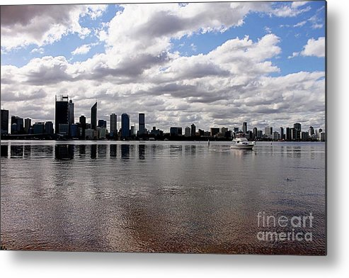 Perth City Metal Print featuring the photograph Perth City From South Perth Foreshore by Carolyn Parker
