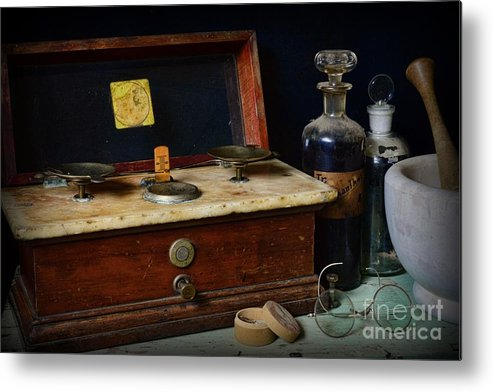 Paul Ward Metal Print featuring the photograph Pharmacy - Exact Measure by Paul Ward
