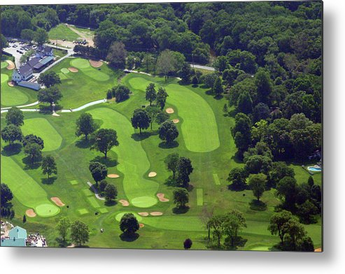 Philadelphia Cricket Club Metal Print featuring the photograph Philadelphia Cricket Club Wissahickon Golf Course 1st And 18th Holes by Duncan Pearson