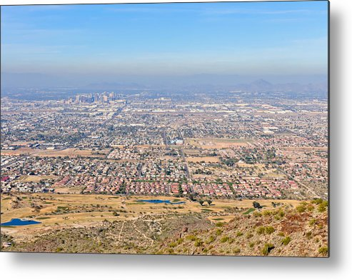 Arizona Metal Print featuring the photograph Phoenix From South Mountain by Tom Dowd