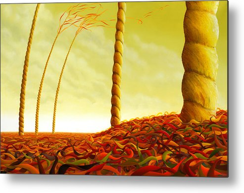 Tree Metal Print featuring the painting Phyllostachys Instita by Patricia Van Lubeck