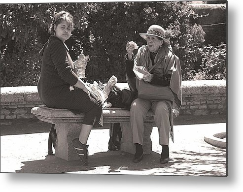 Jez C Self Metal Print featuring the photograph Picnic Lunch by Jez C Self