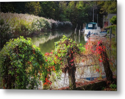 Piermont Metal Print featuring the photograph Piermont Fall Color by Chris Augliera