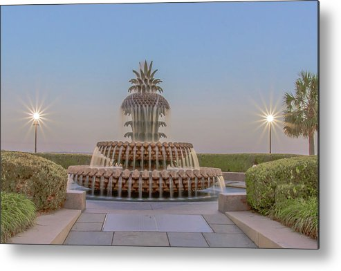 Charleston Metal Print featuring the photograph Pineapple #5003 by Tanya Crews