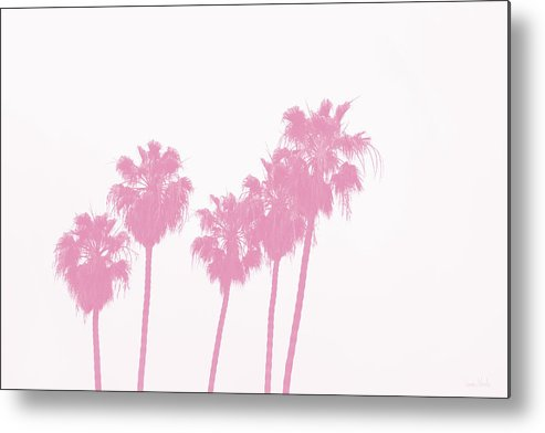 Palm Trees Metal Print featuring the photograph Pink Palm Trees- Art By Linda Woods by Linda Woods