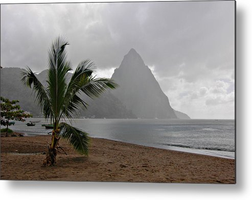 St. Lucia Metal Print featuring the photograph Pitons - St. Lucia by J R Baldini