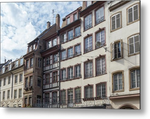 Alsace Metal Print featuring the photograph Place Gutenberg Cityscape by Teresa Mucha