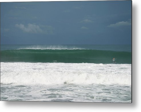 Costa Rica Metal Print featuring the photograph Playa Hermosa Wave Number One Central Pacific Coast Costa Rica by Michelle Constantine