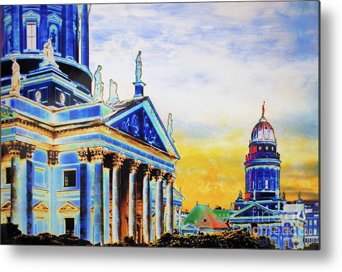 Berlin Metal Print featuring the mixed media Playhouse And French Dome by Nica Art Studio