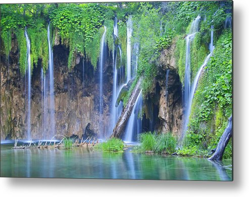 Plitvice Metal Print featuring the photograph Plitvice by Elisa Locci