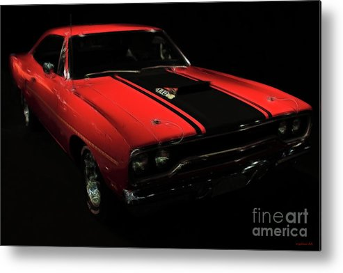 Plymouth Duster Metal Print featuring the photograph Plymouth Duster 440s Beep Beep by Wingsdomain Art and Photography