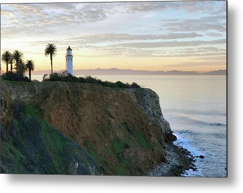 Point Vicente Lighthouse Metal Print featuring the photograph Point Vicente Lighthouse by Art Block Collections