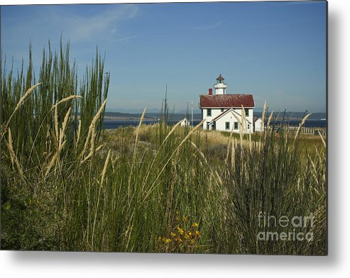 Light Metal Print featuring the photograph Point Wilson Light by Idaho Scenic Images Linda Lantzy