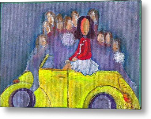 Girl Metal Print featuring the painting Pom Pom Pam by Ricky Sencion