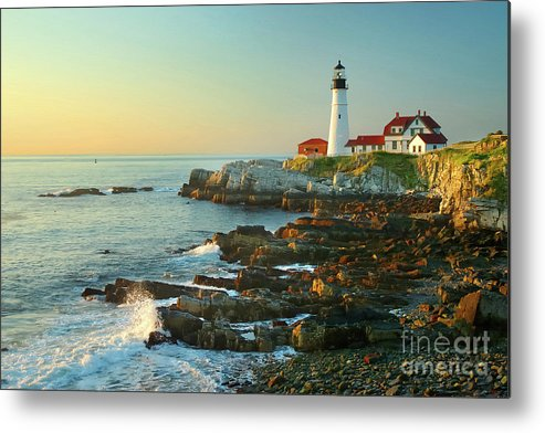Coastline Metal Print featuring the photograph Portland Head Light No. 2 by Jon Holiday