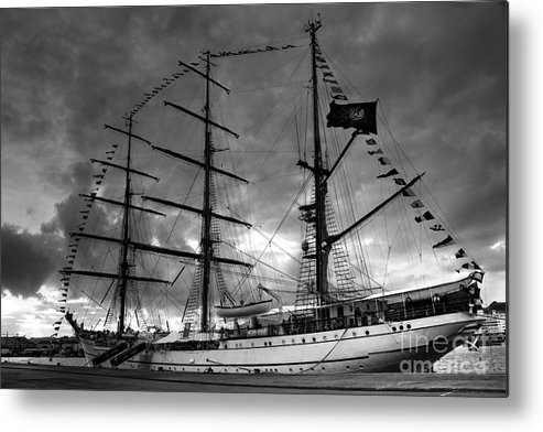 Brig Metal Print featuring the photograph Portuguese Tall Ship by Gaspar Avila