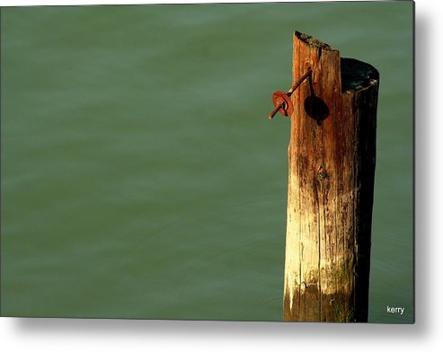 Post Metal Print featuring the photograph Post With Rust by Kerry Reed