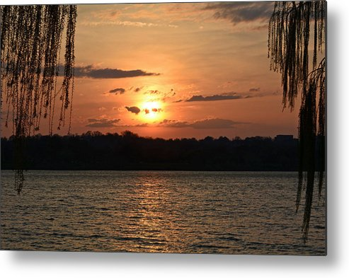 Potomac River Sunset In March Metal Print featuring the photograph Potomac River Sunset In March by Emmy Vickers
