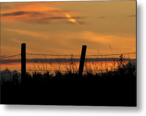 Sunset Metal Print featuring the photograph Prairie Sunset by Inge Riis McDonald