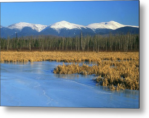 New Hampshire Metal Print featuring the photograph Presidential Range From Pondicherry Refuge by John Burk
