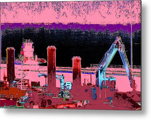 Abstract Metal Print featuring the photograph Pretty In Pink by Rachel Christine Nowicki