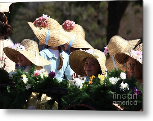 Parades Metal Print featuring the photograph Pretty Little Flower Girls by Kim Henderson