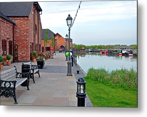 Europe Metal Print featuring the photograph Promenade And Boats At Barton Marina by Rod Johnson